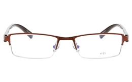 E1191 Stainless Steel/ZYL Mens Womens Semi-rimless Square Optical Glasses for Fashion,Party,Nose Pads