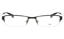 E1203 Stainless Steel Mens Womens Semi-rimless Square Optical Glasses for Fashion,Classic,Party,Nose Pads
