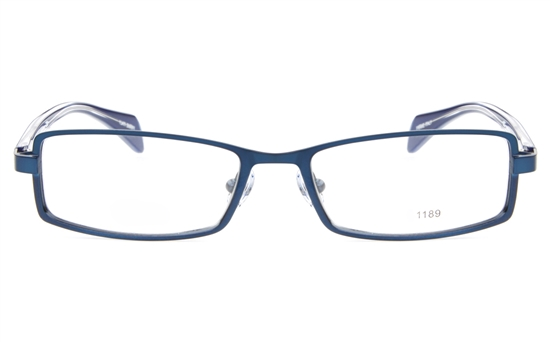 E1195 Stainless Steel/ZYL Mens&Womens Full Rim Square Optical Glasses