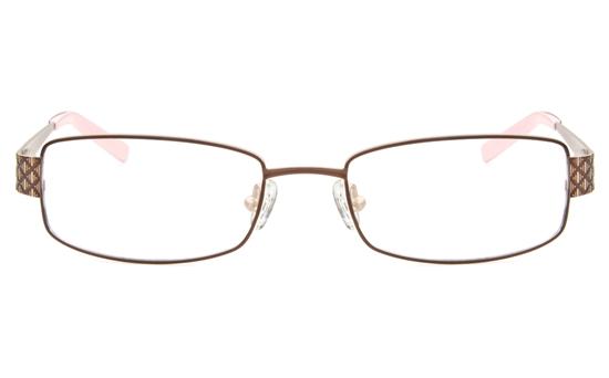 SJ037 Stainless Steel Womens Full Rim Square Optical Glasses
