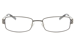 SJ037 Stainless Steel Womens Full Rim Square Optical Glasses for Fashion,Classic,Nose Pads Bifocals