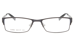 SJ062 Stainless Steel Mens Womens Full Rim Square Optical Glasses for Fashion,Classic,Nose Pads Bifocals