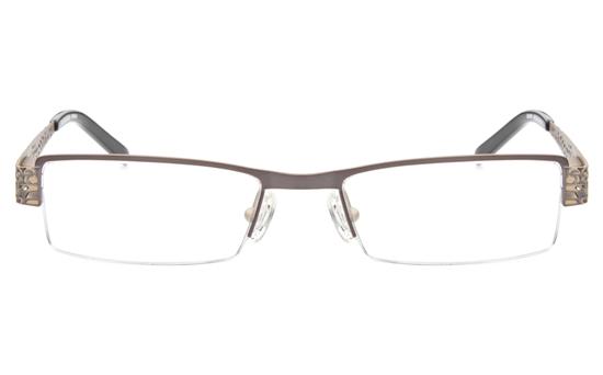 SJ036 Stainless Steel Mens&Womens Semi-rimless Square Optical Glasses