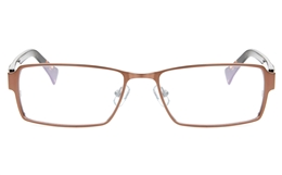 Z6593 Stainless Steel/ZYL Mens Full Rim Square Optical Glasses for Classic,Nose Pads Bifocals