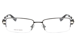 H88146 Stainless Steel Mens Full Rim Square Optical Glasses for Fashion,Party,Sport,Nose Pads Bifocals