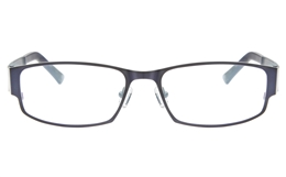 Z6617 Stainless Steel/TR90 Mens Full Rim Square Optical Glasses for Classic,Nose Pads Bifocals