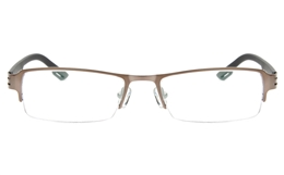 Z6627 Stainless Steel/TR90 Mens Womens Semi-rimless Square Optical Glasses for Classic,Nose Pads Bifocals
