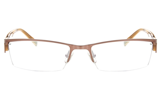 T2008 Stainless Steel/ZYL Mens&Womens Semi-rimless Square Optical Glasses