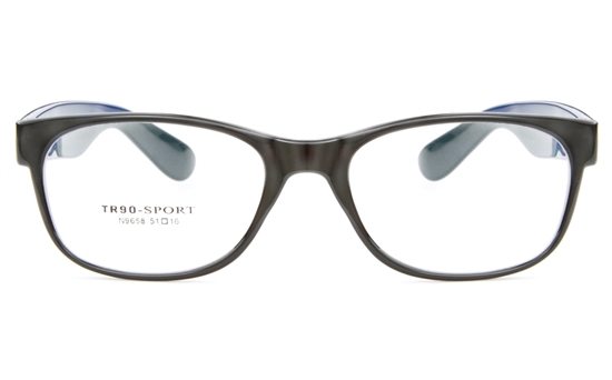 N9658 TR90 Womens Full Rim Wayfarer Optical Glasses