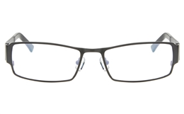 Z6618 Stainless Steel/TR90 Mens Full Rim Square Optical Glasses for Classic,Nose Pads Bifocals