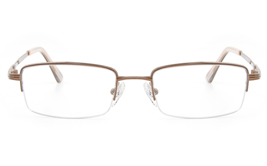 Vista First 2120 Titanium Memory Mens&Womens Semi-rimless Square Optical Glasses