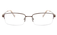 Vista First 2113 Titanium Memory Mens Semi-rimless Square Optical Glasses