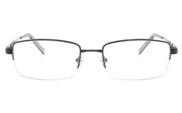 Vista First 2113 Titanium Memory Mens Semi-rimless Square Optical Glasses for Fashion,Classic,Nose Pads Bifocals