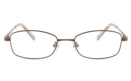 Vista First 2122 Titanium Memory Womens Full Rim Square Optical Glasses for Fashion,Classic,Nose Pads Bifocals