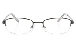 Vista First 2119 Titanium Memory Mens&Womens Semi-rimless Oval Optical Glasses