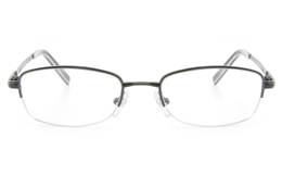 Vista First 2119 Titanium Memory Mens Womens Semi-rimless Oval Optical Glasses for Fashion,Classic,Nose Pads Bifocals