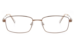 Vista First 2112 Titanium Memory Mens Full Rim Square Optical Glasses for Fashion,Classic,Nose Pads Bifocals