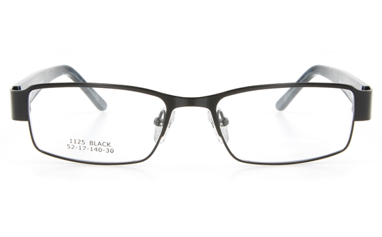 Vista First 1125 Stainless Steel/ZYL  Mens Full Rim Optical Glasses - Square Frame