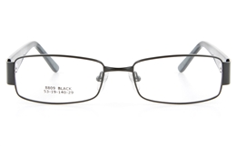 Vista First 8809 Stainless Steel/ZYL  Mens Full Rim Optical Glasses - Square Frame for Fashion,Classic,Nose Pads Bifocals