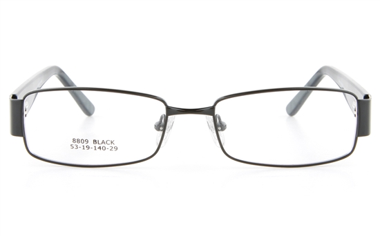 Vista First 8809 Stainless Steel/ZYL  Mens Full Rim Optical Glasses - Square Frame