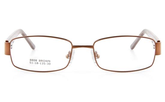 Vista First 8808 Stainless Steel/ZYL  Womens Full Rim Optical Glasses - Oval Frame
