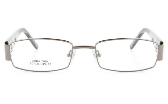 Vista First 8804 Stainless Steel/ZYL  Womens Full Rim Optical Glasses - Oval Frame