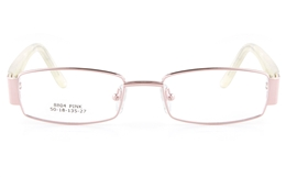 Vista First 8804 Stainless Steel/ZYL  Womens Full Rim Optical Glasses - Oval Frame for Fashion,Classic,Nose Pads Bifocals