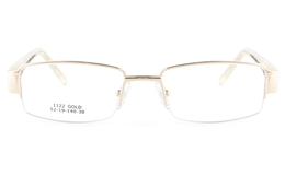 Vista First 1122 Stainless Steel/ZYL  Womens Semi-rimless Optical Glasses - Square Frame for Fashion,Classic,Nose Pads Bifocals