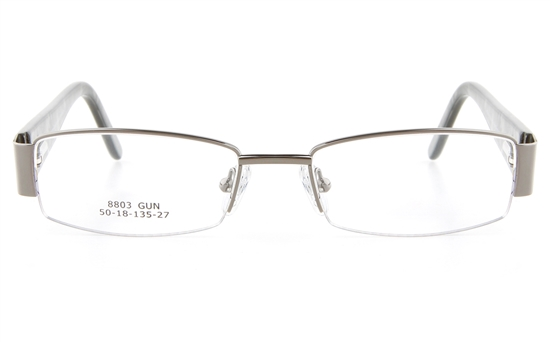 41d98bc4ceb8 Vista First 8803 Stainless Steel ZYL Womens Semi-rimless Optical Glasses -  Oval Frame
