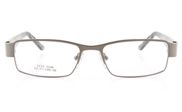 Vista First 1125 Stainless Steel/ZYL  Mens Full Rim Optical Glasses - Square Frame for Fashion,Classic,Nose Pads Bifocals