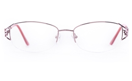 Vista First 1108 Stainless Steel Womens Oval Semi-rimless Optical Glasses for Fashion,Classic Bifocals