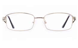 Vista First 1109 Stainless Steel Womens Square Full Rim Optical Glasses for Fashion,Classic Bifocals
