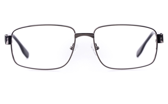 Poesia 6645 Stainless Steel Mens Square Full Rim Optical Glasses