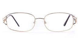 Vista First 1110 Stainless Steel Womens Oval Full Rim Optical Glasses for Fashion,Classic Bifocals