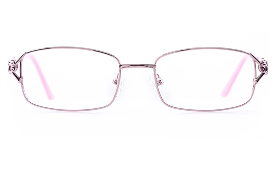 Vista First 1109 Stainless Steel Womens Square Full Rim Optical Glasses
