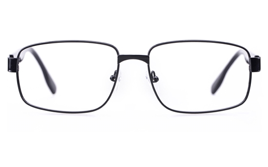 Poesia 6645 Stainless Steel Mens Square Full Rim Optical Glasses