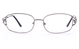 Vista First 1110 Stainless Steel Womens Oval Full Rim Optical Glasses