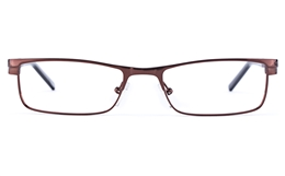 Vista First 1622 Stainless Steel/ZYL  Mens Square Full Rim Optical Glasses for Fashion,Classic,Nose Pads Bifocals