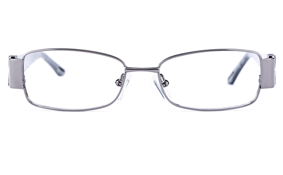 Vista First 8810 Stainless Steel/ZYL  Womens Oval Full Rim Optical Glasses