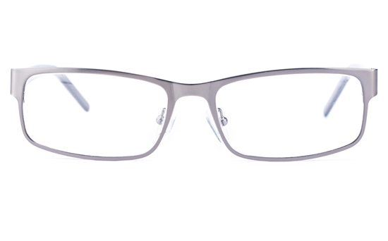 Vista First 1626 Stainless Steel/ZYL  Mens Square Full Rim Optical Glasses