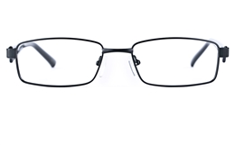 Poesia 6629 Stainless Steel/PC Mens Womens Rectangle Full Rim Optical Glasses for Fashion,Party,Nose Pads Bifocals