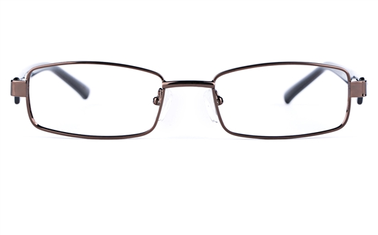 Poesia 6628 Stainless Steel/PC Mens&Womens Rectangle Full Rim Optical Glasses
