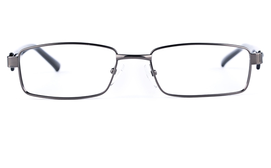 Poesia 6629 Stainless Steel/PC Mens&Womens Rectangle Full Rim Optical Glasses