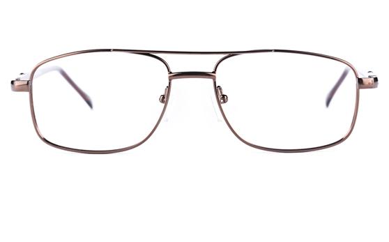Poesia 6633 Stainless Steel Mens&Womens Round Full Rim Optical Glasses