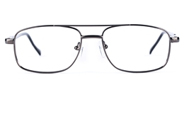 Poesia 6633 Stainless Steel Mens Womens Round Full Rim Optical Glasses for Fashion,Party,Nose Pads Bifocals