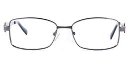 Poesia 6632 Stainless Steel Womens Oval Full Rim Optical Glasses