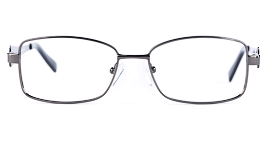 Poesia 6632 Stainless Steel Womens Oval Full Rim Optical Glasses