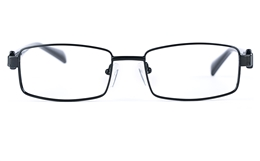 Poesia 6634 Stainless Steel/PC Mens&Womens Rectangle Full Rim Optical Glasses