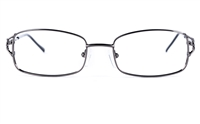 Poesia 6631 Stainless Steel Womens Square Full Rim Optical Glasses