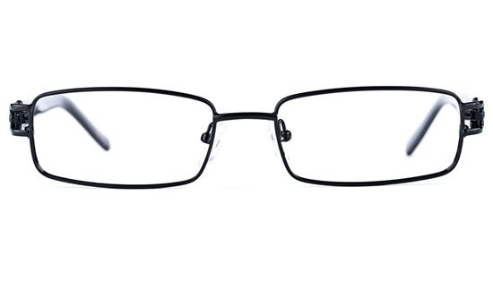 Poesia 6639 Stainless Steel/PC Mens&Womens Rectangle Full Rim Optical Glasses